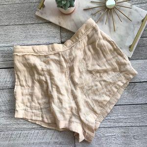 Free people cream soft shorts